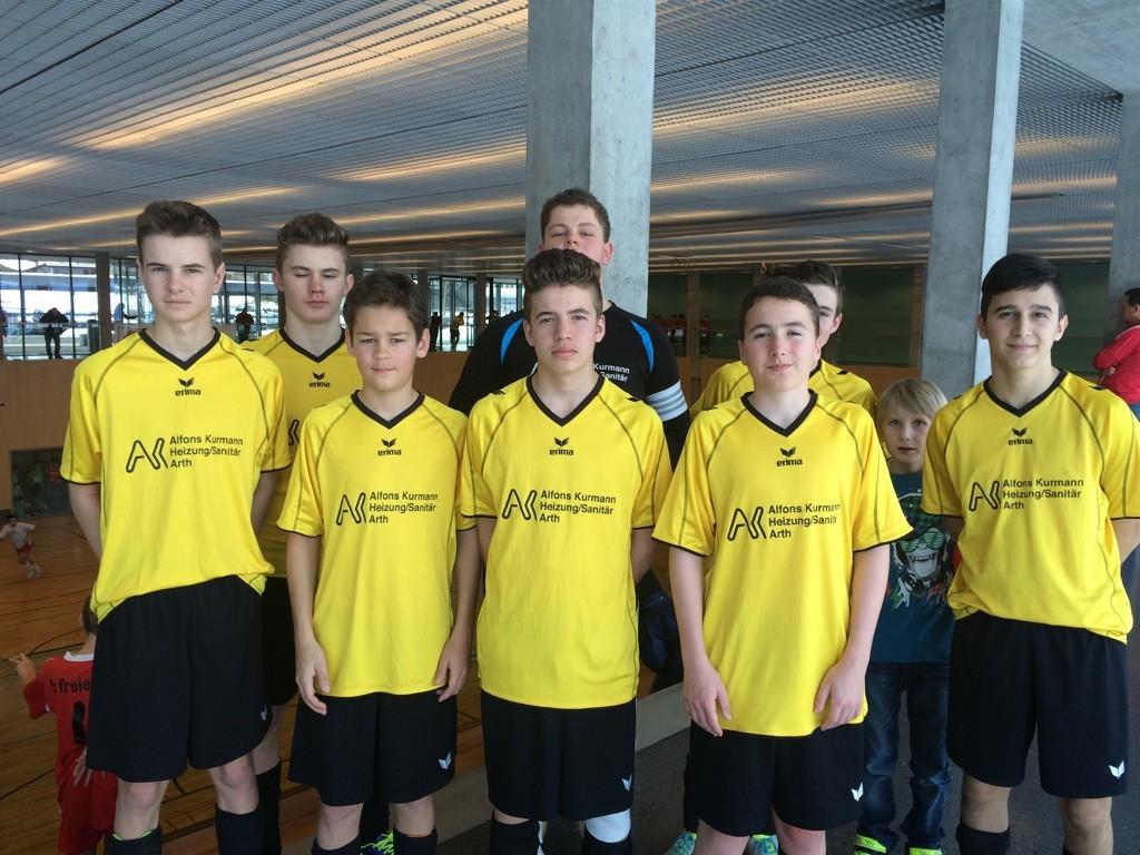 Die C-Junioren schnürten die Turnschuhe am Samstag und erreichten den 3. Platz.
